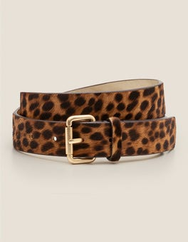 Tan Leopard Classic Buckle Belt