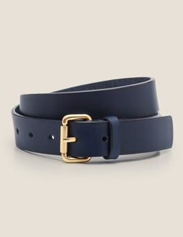 Navy Classic Buckle Belt