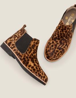 Tan Leopard Oakington Ankle Boots
