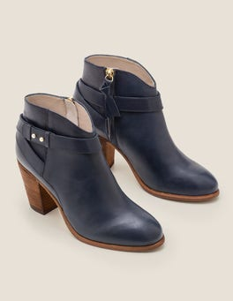 Navy Stratford Ankle Boots