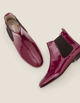 Rubinrot, Lack Leaton Chelsea-Boots