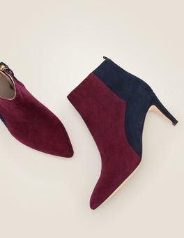Ruby Ring/Navy Bracknell Ankle Boots