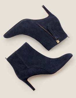 Navy Bracknell Ankle Boots