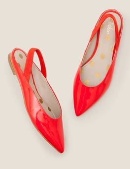 Post Box Red Hannah Slingbacks
