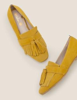 Safrangelb Tess Flache Schuhe