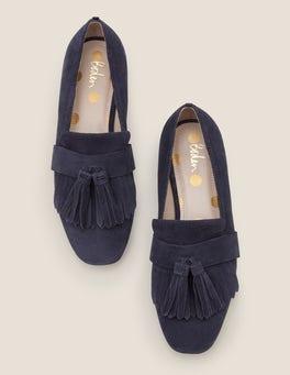 Navy Tess Flache Schuhe