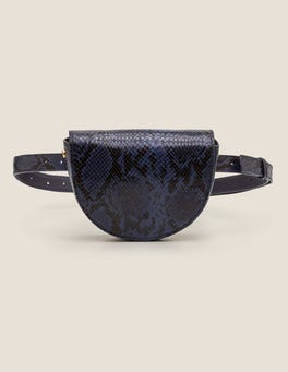 Navy Snake Brecon Belt Bag