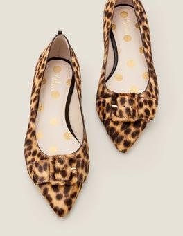 Motif léopard fauve Chaussures plates Renee