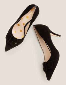 Black Renee Mid Heels