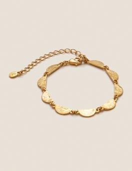Gold Metallic Scallop Bracelet