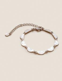 Silber-Metallic Muschel-Armband