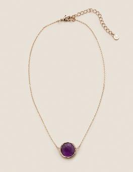Amethyst Halskette mit Halbedelsteinen