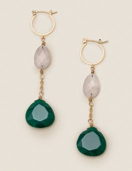 Semi-precious Drop Earrings