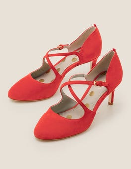 Post Box Red Vanessa Mid Heels
