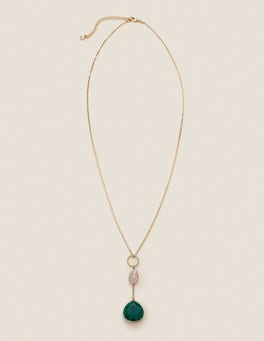 Semi-precious Longline Pendant