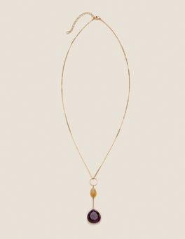 Amethyst Lange Halskette mit Halbedelsteinen