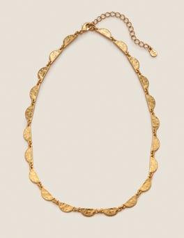 Gold Metallic Scallop Necklace