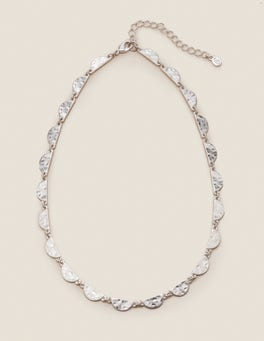 Silver Metallic Scallop Necklace