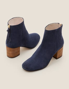 Navy Overton Ankle Boots