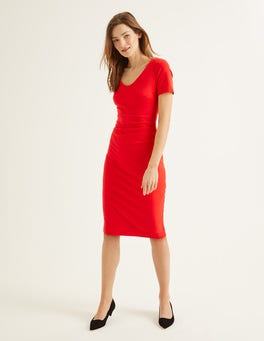 Post Box Red Honor Ponte Dress