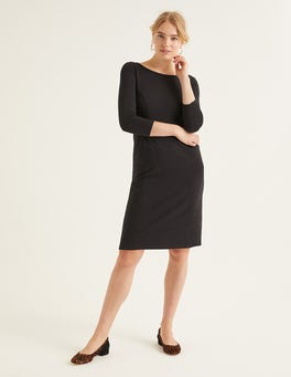 Black Penny Jersey Dress