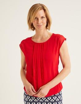 Post Box Red Dakota Jersey Top