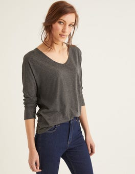 Charcoal Marl Supersoft Relaxed Voop Tee