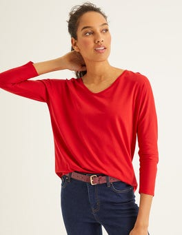 Post Box Red Supersoft Relaxed Voop Tee