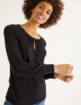 Black Vicky Jersey Top