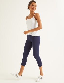 Navy Favourite Cropped Leggings