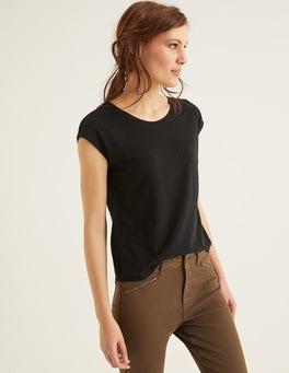 Schwarz Das Baumwoll-T-Shirt