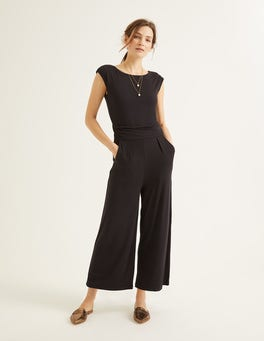 Black Luna Jersey Jumpsuit