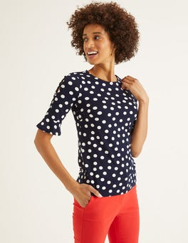 French Navy, Brand Polka Dot Bella Ponte Top