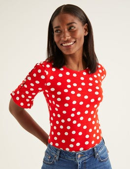 Post Box Red, Brand Polka Dot Bella Ponte Top