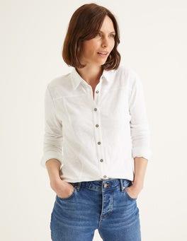 White Tara Jersey Shirt