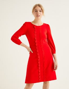 Post Box Red Alexandra Ponte Dress