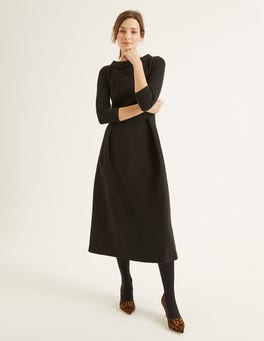 Black Violet Ottoman Dress