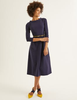 Navy Violet Ottoman Dress