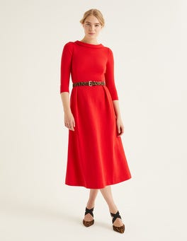 Post Box Red Violet Ottoman Dress