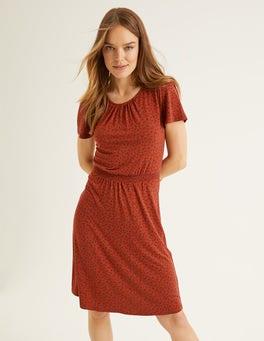 Conker, Ditsy Petal Evangeline Jersey Dress