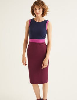Ruby Ring/ Vibrant Plum Celia Ottoman Dress