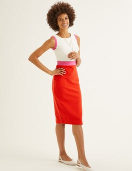 Post Box Red/Party Pink Celia Ottoman Dress