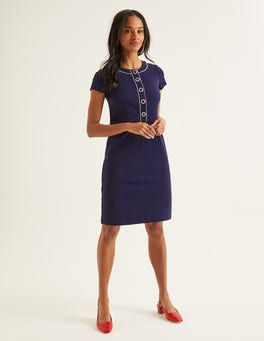 Navy Gracie Ponte Dress