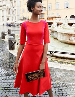 Emily Ponte Midi Dress