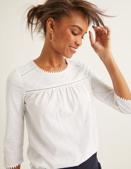White Julia Jersey Top