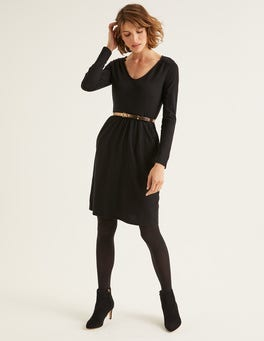 Black Romilly Jersey Dress