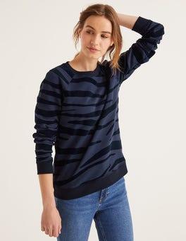 Navy, Flocked Zebra The Sweatshirt