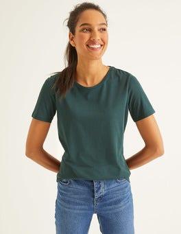 Mitternachtsgrün Superweiches kurzärmliges T-Shirt