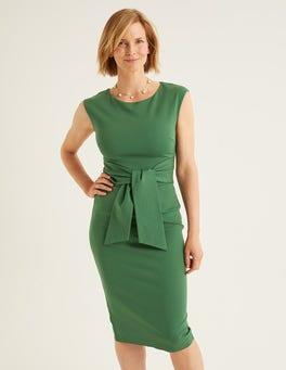 Ackerbohnengrün Jessica Ponte-Kleid