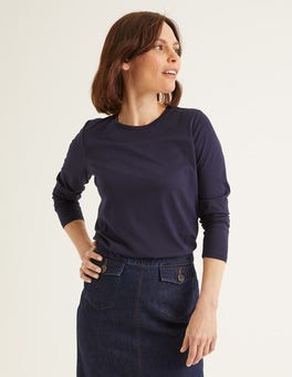 Navy Supersoft Long Sleeve Tee